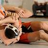 1-20-2010...119 lbs...Peter Pravata (top) of  Pascack Hills defeated Mahwah's Joe Riccie by a fall in 4:24.<br /> PHOTO: KELLY BIRDSEYE