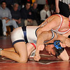 2/06/2009 - 160 lbs.  Bergen Catholic's Chris Warren (top) won by a 16-1 technical fall over Michael Sebable of Paramus.<br /> PHOTO: KELLY BIRDSEYE