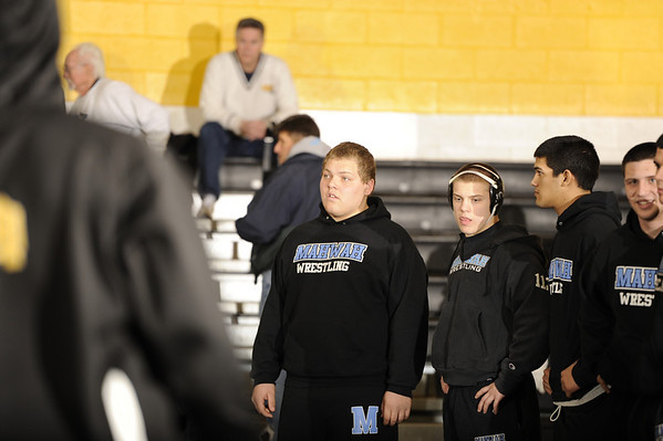 02-07-2011 HS Wrestling Mahwah 24 at River Dell 40