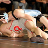 2/13/2009  140 lbs. Mahwah's Justin Janco (top) defeated Mike Kromka by a 2-0 decision.<br /> PHOTO: KELLY BIRDSEYE