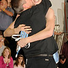 2/13/2009  140 lbs.  Mahwah wrestling coach Dave Heitman congratulates Justin Janco (right) after his 2-0 win over Parsippany's Mike Kromka in the North 1, Group 2 Sectional Final.<br /> PHOTO: KELLY BIRDSEYE