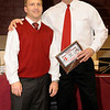 2-20-2010...District 5 Head Coach of the Year, Rick Babitts of Northern Highlands (right) and District 5 Assistant Coach of  the Year, Tom Walsh of Northern Highlands <br /> PHOTO: KELLY BIRDSEYE