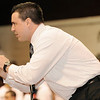 2-20-2010...Don Bosco's head wrestling coach Nunzio Campanile giving words of encouragement during the District 5 championships<br /> PHOTO: KELLY BIRDSEYE