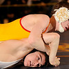 2-28-2010...125 lbs...Bergen Catholic's Connor Melde (top) took the 125 lb Region 2 crown by a 7-1 victory over Nick Maselli of  Emerson/Park Ridge.<br /> PHOTO: KELLY BIRDSEYE