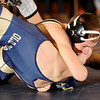 2-28-2010...112lbs...Ramsey's Jeff Rottingen (top) gets points for a near fall, defeating Anthony Miuccio of Old Tappan by a 16-3 major decision.<br /> PHOTO: KELLY BIRDSEYE