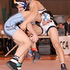 12/30/2009...160 lbs...Mahwah's Ryan Splendorio (front) in an exciting match between champions won a 12-9 decision over  Mike Mordage of Paramus to capture the 160 pound title of the Bergen County Coaches Association George Jockish Holiday Tourmanent at 160 pounds.<br /> PHOTO: KELLY BIRDSEYE