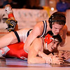 12/30/2009...140 lbs...Nick Alpher of Paramus (top) won a 4-0 decision over Fair Lawn's Vince Demitri to capture the Bergen County Coaches Association George Jockish Holiday Tourmanent at 140 pounds.<br /> PHOTO: KELLY BIRDSEYE