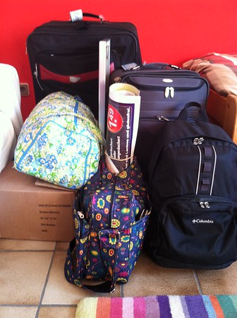 A high school foreign exchange student in Germany and everything she packed for her high school study abroad experience. Many suitcases!