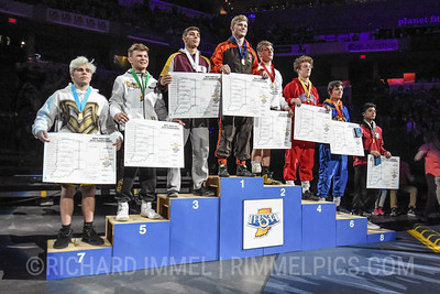 138 Podium: 1st Place - Cayden Rooks of Columbus East 2nd Place - Braxton Alexander of Wawasee 3rd Place - Connor Gimson of Jimtown 4th Place - Tyce Freije of Roncalli 5th Place - Jaden Reynolds of Avon 6th Place - Kyle Holman of Carmel 7th Place - Christopher Wilkerson of Mt. Vernon (Fortville) 8th Place - Treyton Mucker of Tell City