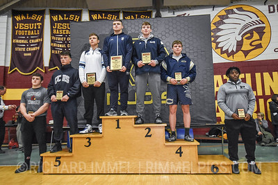 220 Awards: 1st - Braxton Amos (Parkersburg South); 2nd - Owen Trephan (Blair Academy); 3rd - Jake Kaminski (Wyoming Seminary); 4th - Andy Smith (Christiansburg); 5th - Kade Carlson (Corner Canyon); 6th - Matthias Ervin (Union County); 7th - Tyler Stein (Canfield); 8th - Jarin Curtis (Perry)
