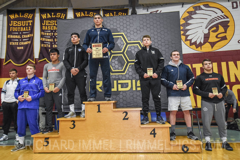 195 Awards: 1st - Albert Ferrari (Blair Academy); 2nd - Pete Christensen (Montini Catholic); 3rd - Ryan Reyes (Gilroy); 4th - Nathan Dugan (Lake Norman); 5th - Ethan Hatcher (Brecksville-Broadview Heights); 6th - Mike Doggett (Wyoming Seminary); 7th - Kolby Franklin (Saint Joseph`s); 8th - Jack Wimmer (McDonogh School)