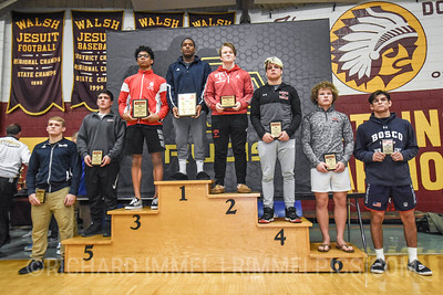 182 Awards: 1st - Darrien Roberts (Wyoming Seminary); 2nd - Jackson Turley (St. Christopher's); 3rd - Devin Winston (Park Hill); 4th - Anthony D`Alesio (Canfield); 5th - Ronald Sizemore (La Salle); 6th - Sam Fisher (Fauquier); 7th - Peyton Craft (Blair Academy); 8th - Nathan Haas (St John Bosco)