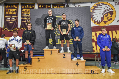 160 Awards: 1st - Connor Brady (Olentangy Liberty); 2nd - Jace Luchau (Selma); 3rd - Kyle Mosher (South Side); 4th - Domonic Mata (Blair Academy); 5th - Noah Blake (Del Oro); 6th - Thayne Lawrence (Frazier); 7th - Todd Perry (South Dade); 8th - Tyler Stoltzfus (Saint Joseph`s)