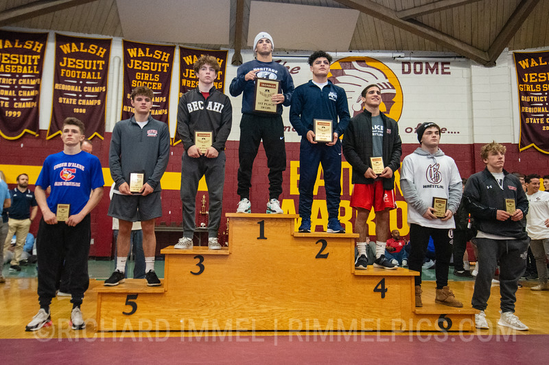 138: 1st Place - Frankie Tal Shahar of American Heritage School (Delray Beach); 2nd Place - Beau Bartlett of Wyoming Seminary; 3rd Place - Kenny Herrmann of Bethlehem Catholic; 4th Place - Justin Rivera of Lake Highland Prep; 5th Place - Mick Burnett of Elyria HS; 6th Place - Nick Moore of Graham; 7th Place - Drew Roberts of Coeur d`Alene; 8th Place - Wyatt Henson of Waynesburg Central