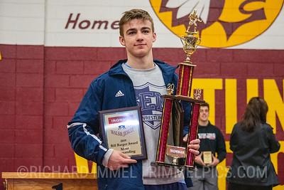 Lachlan McNeil, Wyoming Seminary, 145-pound champion, Outstanding Wrestler Winner