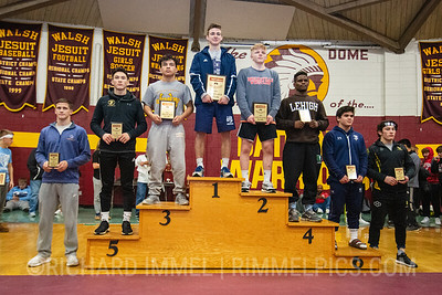 145: 1st Place - Lachlan McNeil of Wyoming Seminary; 2nd Place - Victor Voinovich of Brecksville; 3rd Place - Fidel Mayora of Montini Catholic; 4th Place - Manzona Bryant of Western Reserve Academy; 5th Place - Blake Saito of Perrysburg; 6th Place - Gavin Quiocho of Parkersburg South; 7th Place - Jackson Dean of Caesar Rodney; 8th Place - Aaden Valdez of Pueblo East
