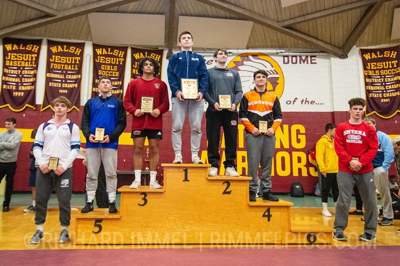 182: 182: 1st Place - Rylan Rogers of Blair Academy; 2nd Place - Jake Evans of Elyria HS; 3rd Place - Ashton Habeil of Lake Gibson; 4th Place - Dominic Solis of McDonogh School; 5th Place - Ethan Ducca of St. John School; 6th Place - Anthony D`Alesio of Canfield; 7th Place - Cole Rees of Wyoming Seminary; 8th Place - JT Davis of Smyrna
