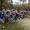 The start of the Leominster High School boys cross country meet against Fitchburg on Thursday afternoon at Barrett Park. SENTINEL & ENTERPRISE/JOHN LOVE