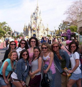 All the girls in front of the Disney Castle<br /> Front  from left: Lindsey Burke (?), Jackie Cahill, Jena Ferrigno, Casey and ? and ?<br /> Rear: Lisa DiCroce, Amber Staska, Danielle Dizebba