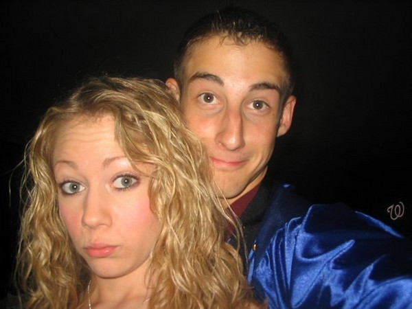 Casey loved making faces for the camera! Casey and Matt Thornton.