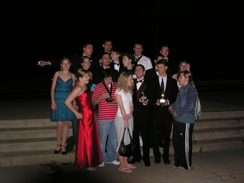 The cast, crew members, and director John Guildea all smiles after the awards ceremony.