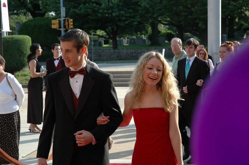 Matt Thorton and Casey upon arrival at the Cappies Awards walking in on the red carpet.