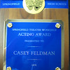 "Casey's plaque for ""Best Actress"", 2006."
