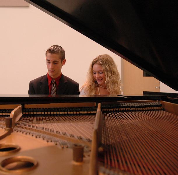 June 2006 - Casey and Matt Thornton at Matt's piano recital.
