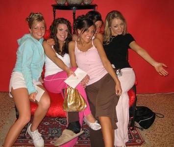 May 06' -  Post Prom: Lindsey Burke, Amber Staska, Jackie Cahill, Rachael kemmey (partially hidden), & Casey