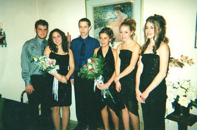 Matt Moore, Elyse Marinelli, Pat Atwell, Lisa, Casey & Amber at Elyse's house getting ready for the Frosh Hop!