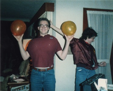 The infamous Balloon Boob Incident during a wild game of Farkel at Kris Moore's house.