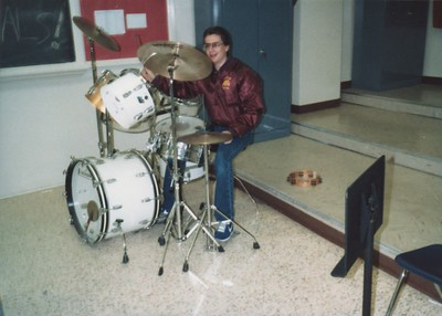 Dork on drums.  Not that I ever played the set in band...just the marching drums and other stuff.