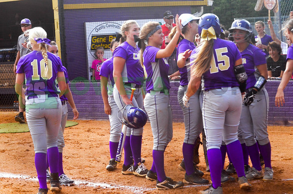 8-9-16 East Coweta softball scrimmage vs. Starr's Mill