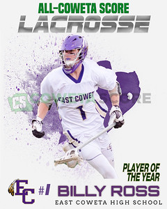 2017 All-CowetaScore Boys Lacrosse Team
