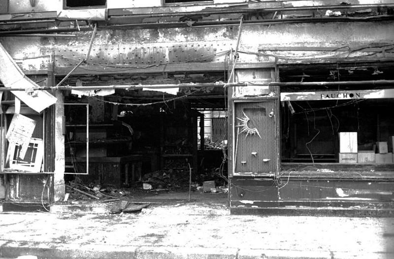 The famous food store Fauchon was the victim of a terrorist bombing