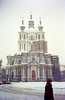 Snowy church in Leningrad