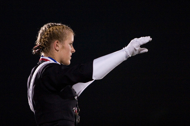 Bell Band Drum Major at 2008 BOA Regional in Houston