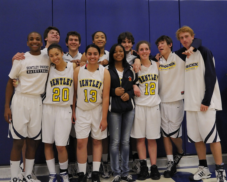 Bentley Varsity Basketball Seniors on 01/21/2011