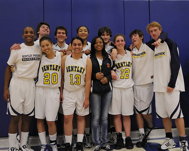 Basketball Seniors and Halftime, 01/21/11