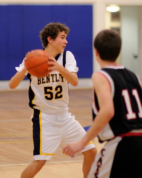 Bentley Men's JV Basketball vs. Marin Academy on 01/03/2010.