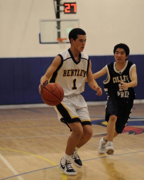 Bentley Men's JV Basketball vs. College Prep on 01/06/2009.