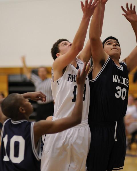 Bentley Men's JV Basketball vs. Waldorf on 12/16/2010.