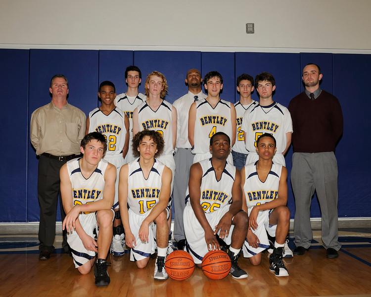 Bentley Men's Varsity Basketball team photo,  02/12/2010