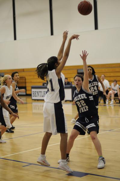 Bentley Women's JV Basketball vs. College Prep on 01/14/2009.