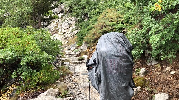 Hiking in the rain (video)