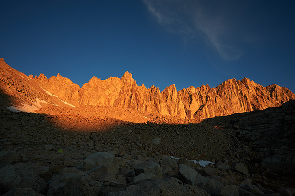 Gorgeous direct light on Mt. Whitney