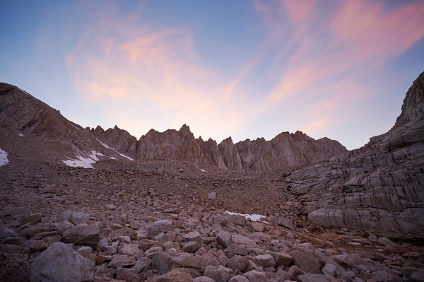 Sun sets over Mt. Whitney