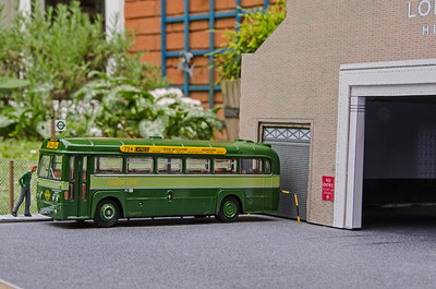 A Romford RF awaiting a return to it's home garage on the 724 Green Line Express which was introduced in 1966