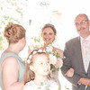 Beaming bride and her father