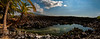 Composite image of an anchialine pond at Makalawena Hawaii. This image was composed of nine seperate photographs.